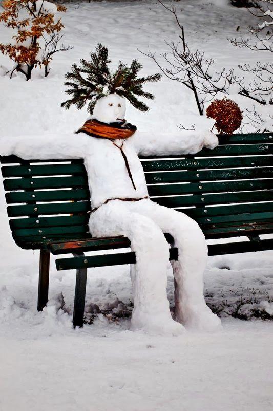 čovek u snegu
